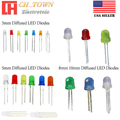 3mm 5mm 8mm 10mm Led Light Emitting Diodes Round White Red Blue Green Rgb Lights