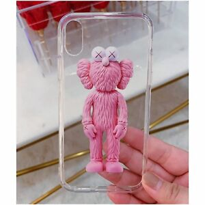 Clear Pink Kaws iPhone X Case - Brand New