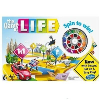 Game Of Life Card Games - The Game of Life Classic Board Game from Hasbro Gaming Spinner Cards New