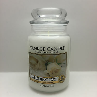 YANKEE CANDLE WEDDING DAY 22 OZ JAR CANDLE