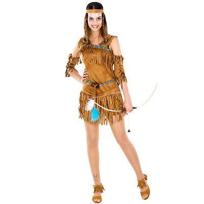 Frauenkostüm sexy Indianerin Indianer Wilder Westen Fasching Apache Western -