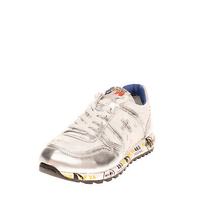 RRP €205 PREMIATA Sneakers EU35 UK2.5 US3.5 Contrast Leather Logo Made in Italy