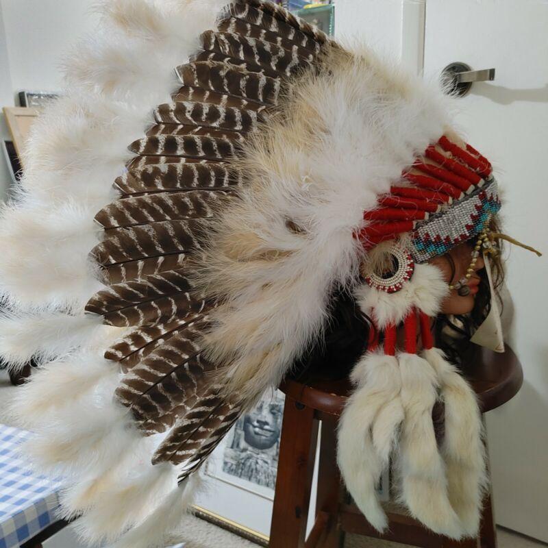 Native American Prarie War Hat Navajo bonnet