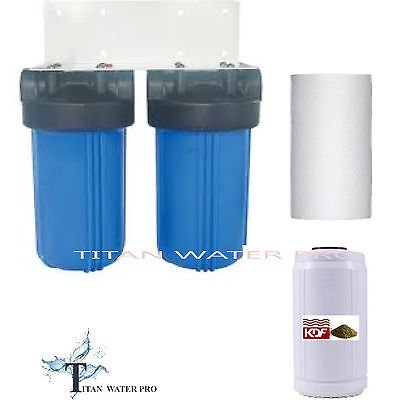 Totality House Water Filter Big Blue Water Filter System KDF85 Iron/Sulfide Removal