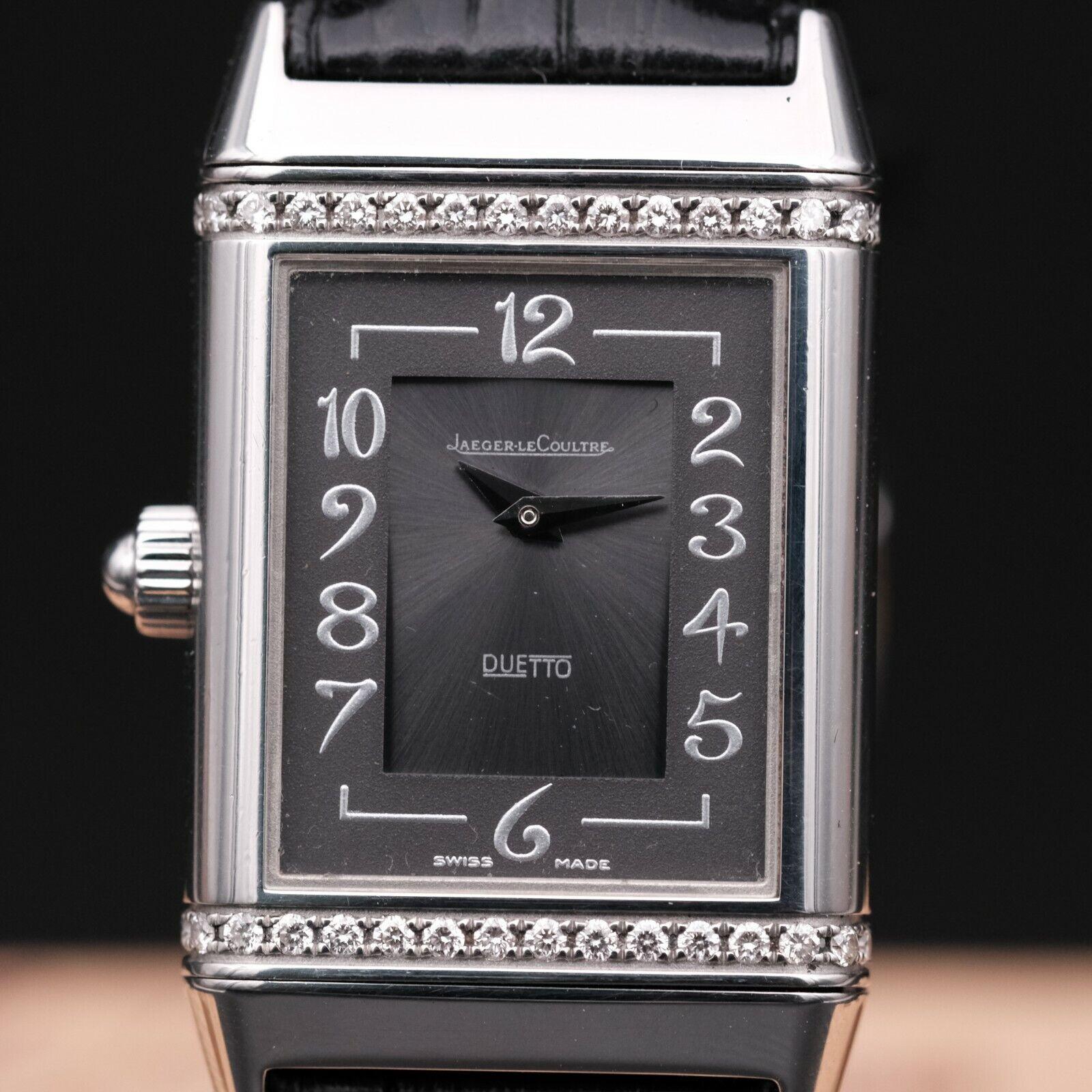 AUTHENTIC RARE JAEGER LECOULTRE REVERSO DUETTO DIAMOND REF 256.8.75, JLC_551772 - watch picture 1