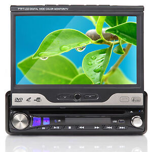 D1302Z-Motorized-Car-7-LCD-Monitor-TV-Touchscreen-Bluetooth-HD-DVD-Player-Stereo