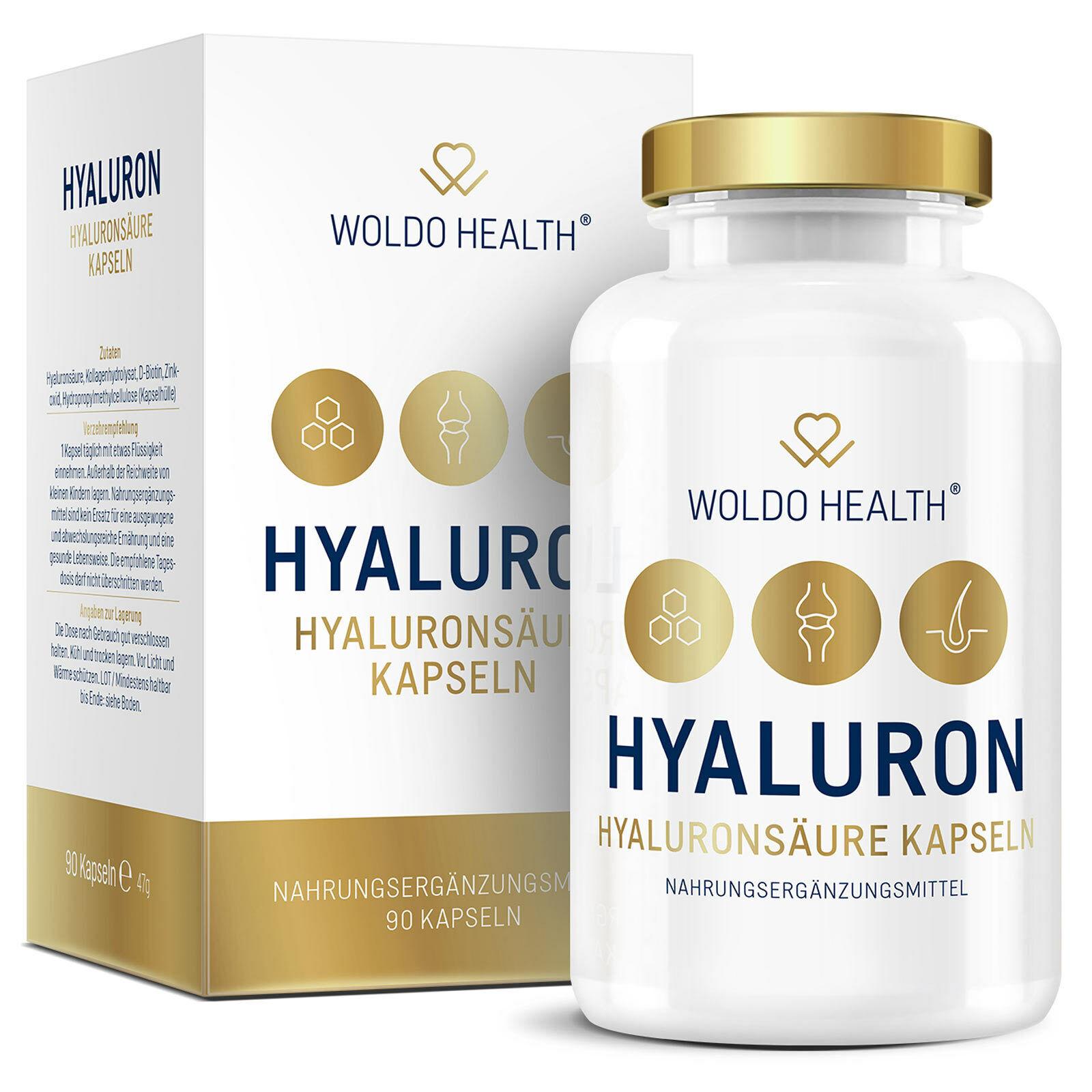Hyaluron Kapseln hochdosiert mit Collagen Biotin Zink Hyaluronsäure - Kapsel