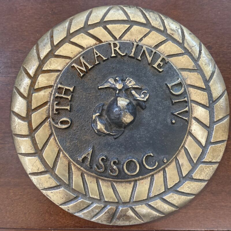 6th Marine Division Association - Emblem - Brass And Aluminum