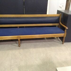 Pew style bench
