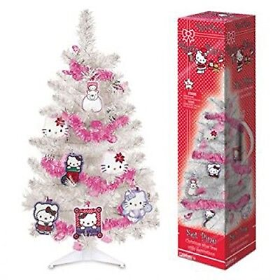 Hello Kitty Weihnachtsbaum künstlicher Baum (ca. 60 cm) 12 Dekoteile 1x Girlande