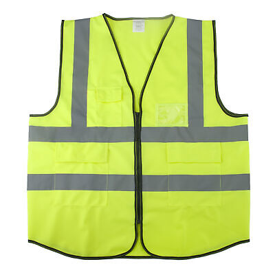 Toptie Muti Pockets High Vis Construction Safety Vest Neon Green Small