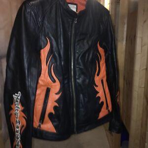 Ladies leather Harley jacket