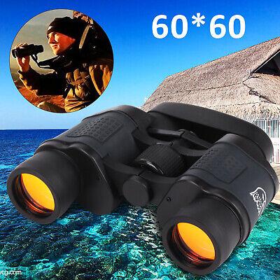 UK 60x60 Day&Night Military Army Zoom Powerful Binoculars Optics Hunting Camping