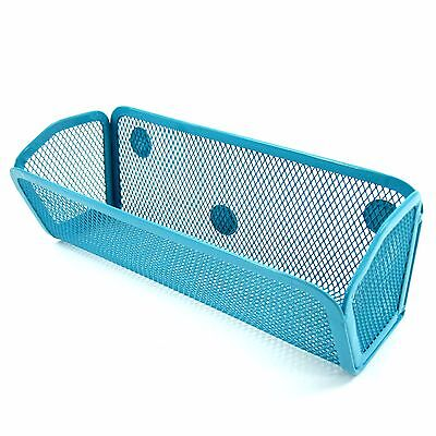 Blue Small Kitchen Storage Net Basket With Magnets Refrigerator Magnets