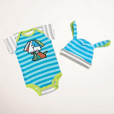 Enesco Romero Britto bebe Boy 0-6 One size and Hat NWT 4037374