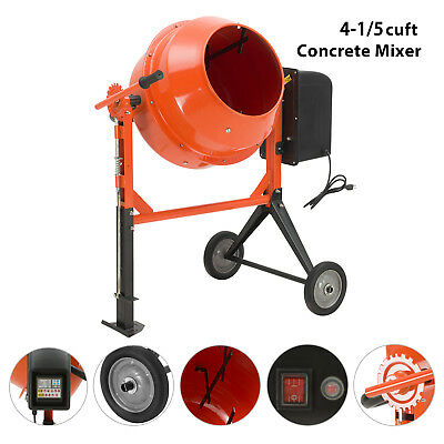 4-15cuft Portable Electric Concrete Cement Mixer Barrow Machine Mixing Mortar