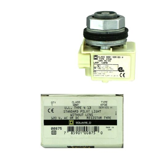 SQUARE D  Standard Pilot Light No Lens Resistor  Type 9001KP38
