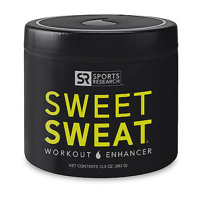 Sports Research SWEET SWEAT 13.5 oz XL Jar Workout Enhancer, Sweat Skin Cream