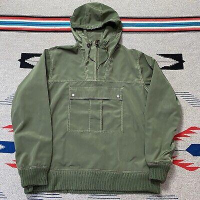 Gant by Michael Bastian Quarter Zip Hooded Kangaroo Jacket Mens Size Large Green
