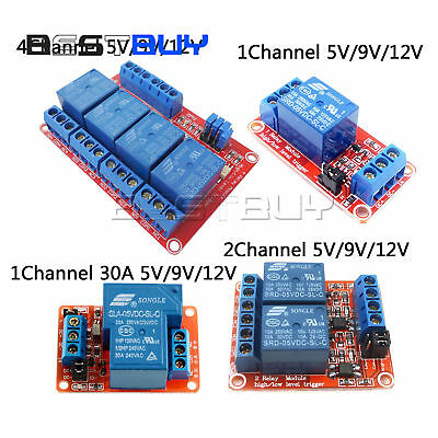 124 Channel Relay Module Board With Optocoupler Highlow Level Triger 30a