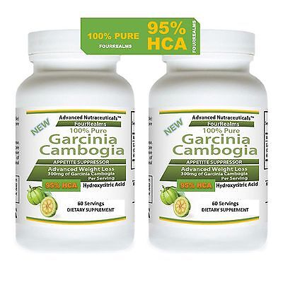 2 Garcinia Cambogia Extract Plus Pure No Filler 95  Hca Weight Loss Fat Burner