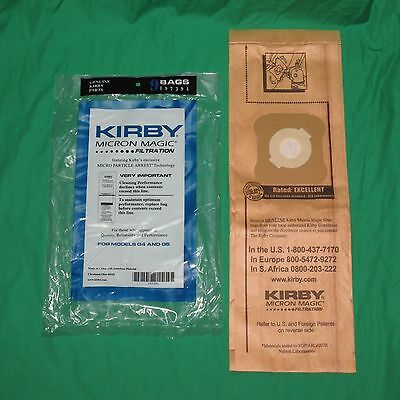 Genuine Kirby Generation 4 & 5 G4/5 Micron Magic Vacuum Bags OEM 197294S 197394A