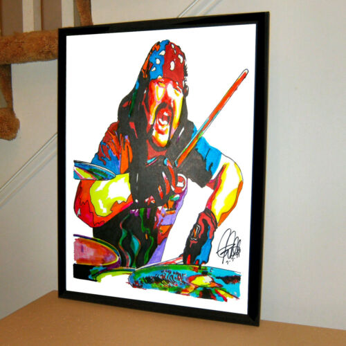 Vinnie Paul Pantera Drummer Damageplan Metal Music Poster Print Wall Art 18x24