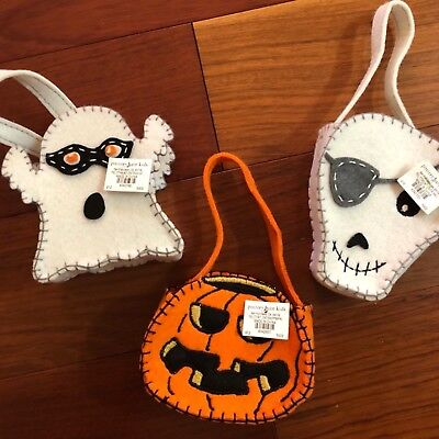 Halloween Treat Containers (Pottery Barn Kids S/3 ~HALLOWEEN~ Mini TREAT CONTAINERS ~PEANUTS~)
