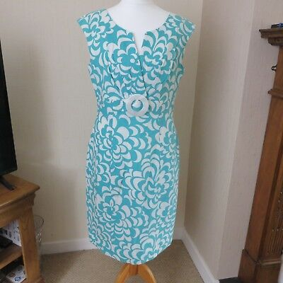 Vintage Jessica Howard Light Turquoise Dress size 10 Immaculate