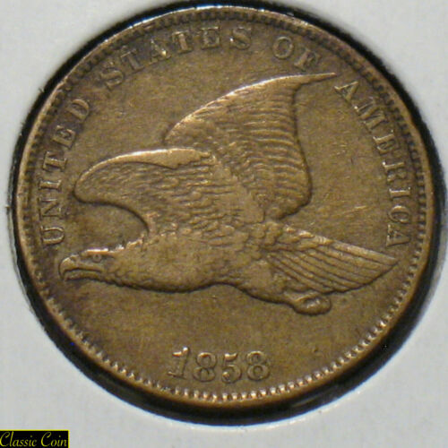 1858 U.S. Flying Eagle Cent 1c Penny Copper Small Letters