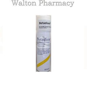 Betadine DRY POWDER Spray 100ml 25mg/g povidone iodine antiseptic spray skin