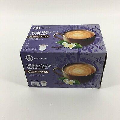BARISSIMO FRENCH VANILLA CAPPUCCINO FLAVORED COFFEE PODS 1 box of 12