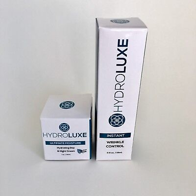 HydroLuxe Instant Wrinkle Control 0.5 oz & Hydrating Day/Night Cream 1 oz NEW Instant Hydration Day Serum