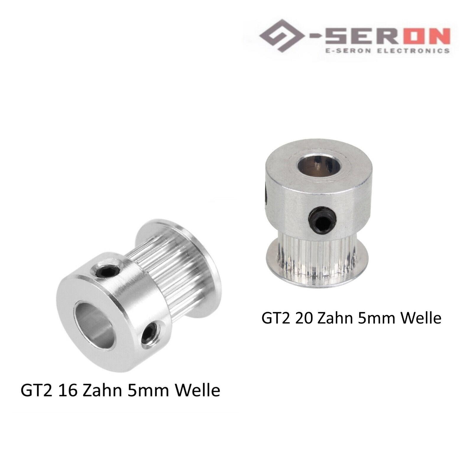GT2 Zahnrad Pulley CNC 20 oder 16 Zähne 5mm Welle   RepRap Mendel 3D Drucker
