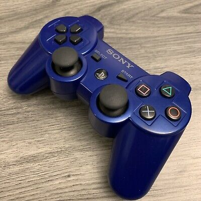 Sony PS3 DualShock 3 Sixaxis Controller - OEM Original - Blue - Refurbished