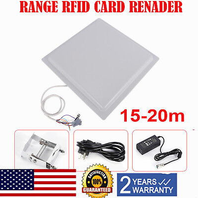 Ip65 Car Access Control System Uhf Rfid 15m Long Distance Readerwindshield Tags
