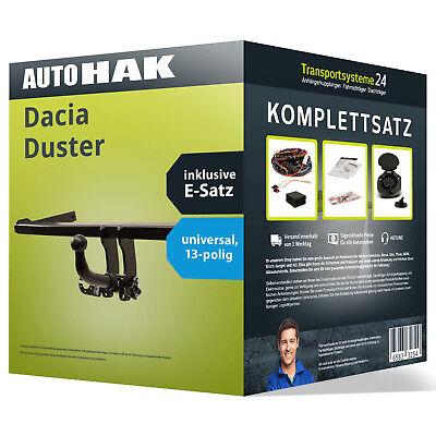 Anhängerkupplung abnehmbar DACIA Duster +Elektrosatz NEU kpl.  inkl. EBA