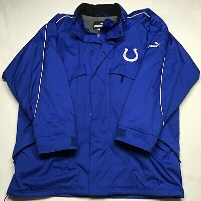 INDIANAPOLIS COLTS NFL TEAM MIDWEIGHT WINTER JACKET COAT YOUTH S M L BLUE NWT