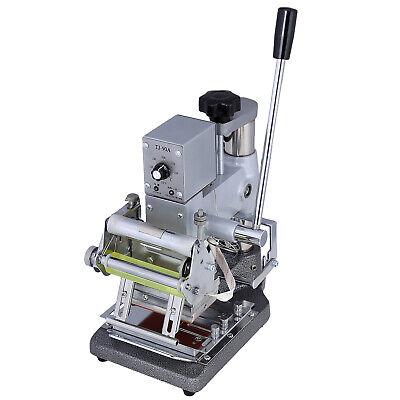 Manual Tipper Stamping Printing Machine Pvc Card Hot Foil Stamper W 2 Roll Foil