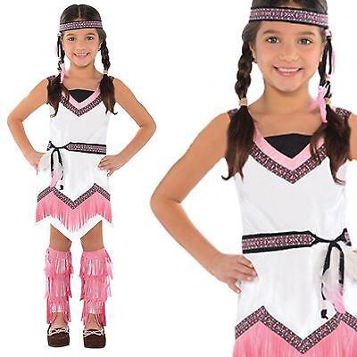 Mädchen Rosa Tiger Lilie Native Rot Indianer Squaw Kostüm Pan Buch Woche Kostüm