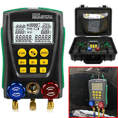 Refrigeration Digital Manifold Gauge Set Hvac Vacuum Pressure Temperature Tester
