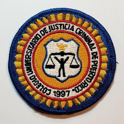 VINTAGE PUERTO RICO POLICE PATCH / COLEGIO DE JUSTICIA CRIMINAL #1
