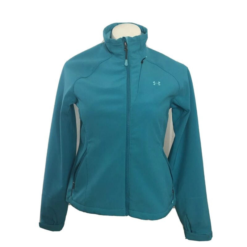 UNDER ARMOUR All Seasons Jacket Womens Large Turquoise Full Zip