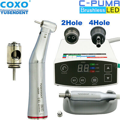 Coxo Dental Led Electric Micro Motor C Puma 15 Fiber Contra Angle Handpiece Nsk