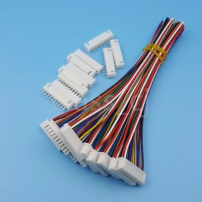 10sets Xh2.54 10pin Single End 15cm 24awg Wire To Board Connector With Socket