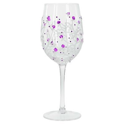 Sunny By Sue Purple Thistle Hand Painted Decorative Wine Glass Party Gift Idea](Wine Glass Decorating Ideas)