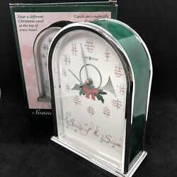 Howard Miller Clock Sounds Of The Season Tabletop Plays On The Top Of The Hour