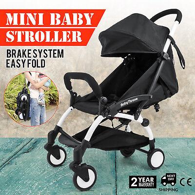 - Mini Folding Baby Stroller Jogger Tour Lightweight Compact Travel Cobalt w/Bag