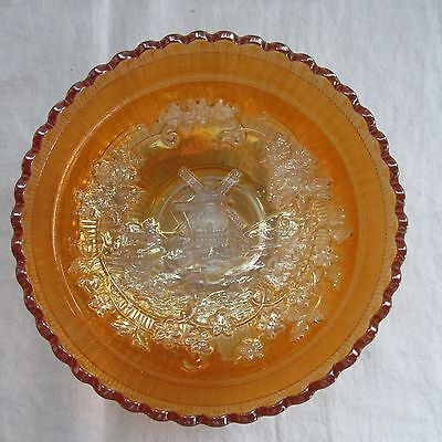 """ANTIQUE IMPERIAL GLASS MARIGOLD WINDMILL 6-3/4"""" SERVING BOWL NO. 136"""
