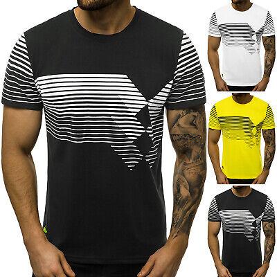T-Shirt Kurzarm Shirt Mit Motiv Rundhals Mit Aufdruck Herren OZONEE JS/KS2058